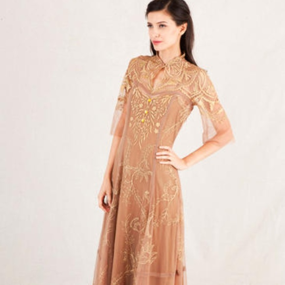 Nataya Dresses & Skirts - Nataya Antitque Gold Vintage Inspired Wedding Dres